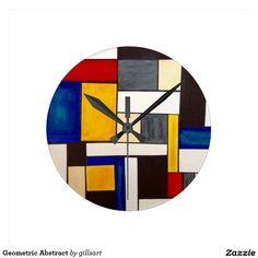 Geometric Abstract Round Clock