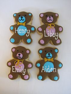 teddy bear cookies - Google Search