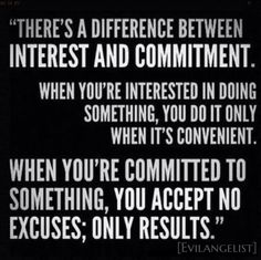 the commitment > no excuses, just results