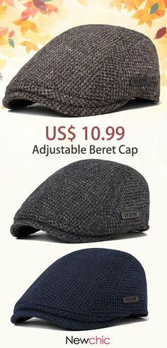 586f014c238 Men Cotton Gatsby Flat Beret Cap Adjustable Knit Ivy Hat Golf Hunting  Driving Cabbie Hat is hot sale on Newchic.