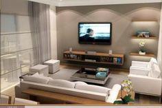 Decoración de Salas Modernas. La combinación de colores claros y marrones es uno de los puntos que caracteriza el estilo de decoración moderna, pero mientras la decoración no sea exager