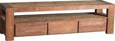 Teakhouten meubelen van Teakea | massieve teakhouten dressoir geborstelde teakhouten uitvoering