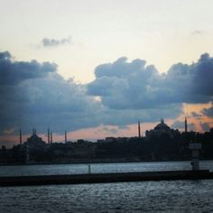 Majestic sunset in Istanbul