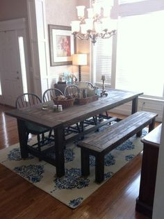 Our dining room table - we made this in 2011!