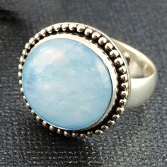 Rainbow Moonstone Sterling Silver Ring handcrafted in Bali by Bluemoonstone Creations.
