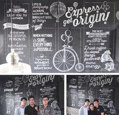 White Chalk Wall typo - Mr Ego Coffee & Tea by Hieu Trieu, via Behance