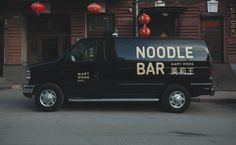 Mary Wong Noodle Bar by Fork Commercial Van, Commercial Vehicle, Mary Wong, Van Signage, Vehicle Signage, Vehicle Branding, Car Lettering, Hp Quotes, Noodle Bar