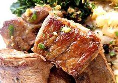 Get Filet of Beef Bourguignon Recipe from Food Network Portuguese Recipes, Portuguese Food, Pork Recipes, Cooking Recipes, Bourguignon Recipe, Marinated Pork, Pork Dishes, International Recipes, Food Network Recipes