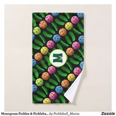 Monogram Pickles & Pickleballs - Sweat Towel