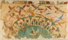 Detalle de caza y pesca de escena de la tumba de Menna. Dayr al-Bahari. Valle de los nobles.- Egypt: Mariposas en Egipto