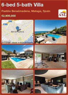 6-bed 5-bath Villa in Pueblo Benalmadena, Malaga, Spain ►€2,900,000 #PropertyForSaleInSpain