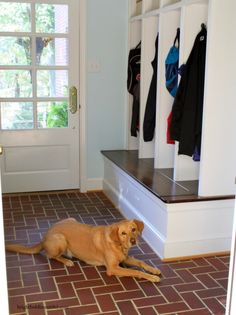 mudroom with built-in cubbies and bench