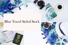 Blue Travel Styled Stock Photos by Fempreneur Styled Stock on @creativemarket