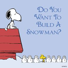 """♡ Even Snoopy & Woodstock aren't immune to the influence of Disney's """"Frozen""""! """"Snoopy, Do You Wanna Build A Snowman? Charlie Brown Christmas, Peanuts Christmas, Peanuts Cartoon, Peanuts Snoopy, Snoopy Und Woodstock, Charlie Brown Und Snoopy, Snoopy Pictures, Snoopy Images, Funny Pictures"""