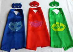 Disney Inspired PJ Mask Superhero Cape with Logo and Mask  Disney Inspired PJ Mask Superhero Cape with Logo  Look at these awesome capes I found. Great for gifts, party favors and that imagination fun!!
