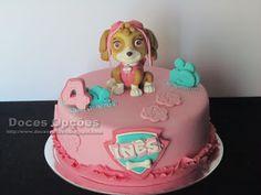 Doces Opções: Bolo de aniversário Skye Paw Patrol, Birthday Cake, Desserts, Kids, Food, Kid Cakes, Birthday Cakes, Sweets, Party