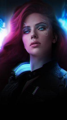Cyberpunk 2077 Black Widow Wallpaper - iPhone 12 Pro Max