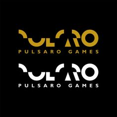 pulsaro logo gold and white