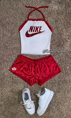 Name Brand (Nike) or (Adidas) Inspired Summer Outfit Set! Made to order! - New Ideas Cute Nike Outfits, Cute Lazy Outfits, Swag Outfits For Girls, Girls Fashion Clothes, Sporty Outfits, Teenager Outfits, Dope Outfits, Teen Fashion Outfits, Summer Outfits