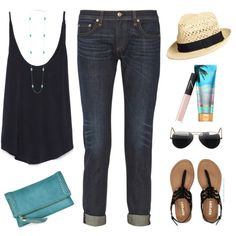Vacation Style by steffiestaffie on Polyvore featuring Zara, rag & bone, Aéropostale, Sole Society, Kendra Scott, H&M, Ray-Ban and NARS Cosmetics