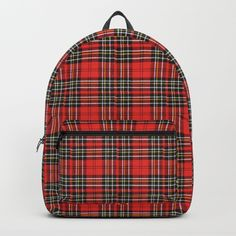 d39aa5c66048 Vintage Plaid Lunchbox Backpack  backpack  plaid  redbackpack  tartan   vintagestyle