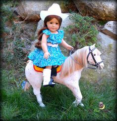 Complete Cowgirl Outfit in Teal American by upowlnightcrafting