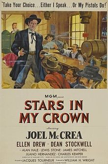 Stars in My Crown (film) - Wikipedia, the free encyclopedia. A beautiful little movie, a morality tale. I only recently caught this movie on TCM and had to stop what I was doing to watch the whole thing. A