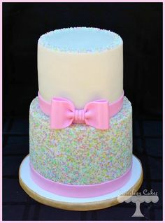 Pastel Sprinkles Cake (and smash cake) - cake by Cuteology Cakes Mothers Day Cupcakes, Mothers Day Cake, Gorgeous Cakes, Pretty Cakes, Fondant Cakes, Cupcake Cakes, Novelty Cakes, Love Cake, Celebration Cakes