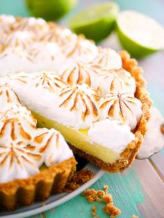Key Lime Pie Recept, Kitchen Stories, Pudding, Comfort Food, Fika, How Sweet Eats, Cheesecake, Cookies, Desserts