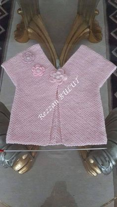 "Basit bebek yeleği ""Bebek yelek- nice embellishment on Vikel vest"", likes 43 comments"", ""Made for Baby"", ""Discover thousands of images about Knitting Baby Girl, Knitting For Kids, Baby Knitting Patterns, Crochet For Kids, Knitting Stitches, Crochet Baby, Knitted Baby Cardigan, Knit Baby Sweaters, Bebe Baby"