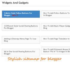 Stylish sitemap for blogger | 101helper gadgets for blogger