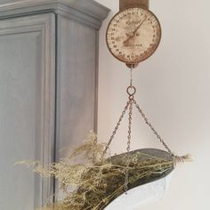 Antique Scale hanging in the kitchen. Every farmhouse needs a scale Decor, Hanging Scale, Country Decor, Decor Styles, Rustic Farmhouse, Hanging, Inspiration, Modern Farmhouse Decor, Rustic Farmhouse Decor