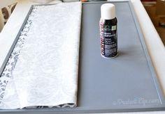 Using spray adhesive on cork board