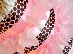 Pink Girl Diaper Cake - Pink and Brown Polka Dot Plush Teddy Bear & Matching Baby Bib Diaper Cake Centerpiece - http://www.babyshower-decorations.com/pink-girl-diaper-cake-pink-and-brown-polka-dot-plush-teddy-bear-matching-baby-bib-diaper-cake-centerpiece.html