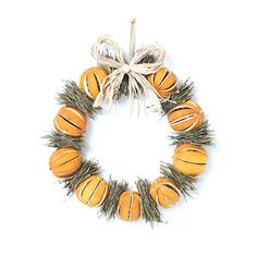 Fruit Wreath with Oranges and Bay Leaves