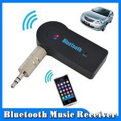 2016 핸즈프리 자동차 블루투스 음악 수신기 범용 3.5 미리메터 스트리밍 A2DP 무선 자동차 AUX 오디오 어댑터 마이크 전화 MP3