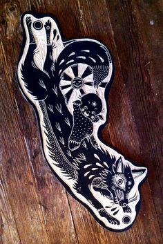 Woodcut wildlife