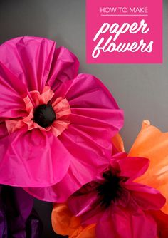 DIY Flowers : How to make paper flowers