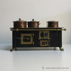 Furniture Toy Kitchen Iron Old-fashioned Cooking  Stove Chimney Doll House