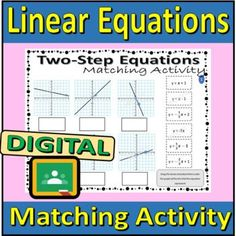 Linear Equations - Matching Activity (Drag and Drop) by Rethink Math Teacher