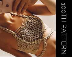 Excited to share this item from my shop: Crochet bralette PATTERN , crochet top pattern Bralette Top Pattern Crochet Crop Top Crochet Lace Top Crochet Bikini Top Crochet Bra Débardeurs Au Crochet, Crochet Bikini Top, Crochet Motifs, Crochet Blouse, Crochet Patterns, Crochet Monokini, Crochet Bikini Pattern, Crochet Halter Tops, Motif Bikini