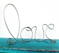 Wire Art..Super cute!