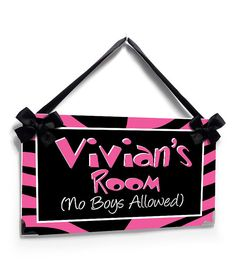 no boys allowed tennagers bedroom door sign pink and by kasefazem