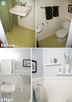 best of curbly top ten bathroom makeovers of 2011 - Cheap Bathroom Makeover
