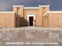 Achaemenids (Persepolis) - reconstructed view of Gate of All Nations , West Facade