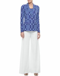 Isadora One-Button Jacket, Tank & Palazzo Pants, Women\'s  by Misook at Neiman Marcus.