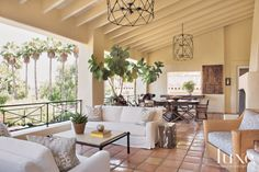 Cream Outdoor Sitting and Dining Areas