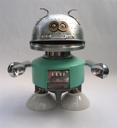 American artist Brian Marshall (aka Adoptabot) makes his sculptures from junk and vintage appliances.  I love his ingenuity and his imaginat...