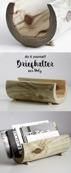 DIY Holz Briefhalter Basteln