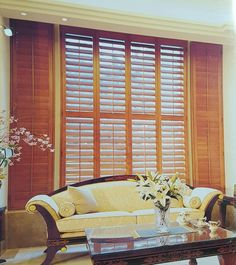 InteriorDecorating.com has plantation shutters for you in stain and painted colors.